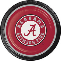 Creative Converting 420697 9 inch University of Alabama Paper Plate - 96/Case