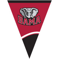 Creative Converting 299097 106 inch Plastic University of Alabama 12 Flag Banner - 12/Case