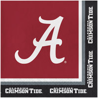 Creative Converting 660697 University of Alabama 2-Ply 1/4 Fold Luncheon Napkin - 240/Case