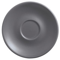 World Tableware DRI-14-G Driftstone 6 inch Granite Satin Matte Porcelain Saucer - 24/Case