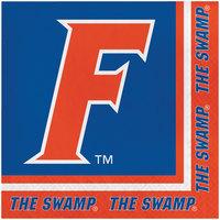 Creative Converting 669698 University of Florida 2-Ply 1/4 Fold Luncheon Napkin - 240/Case