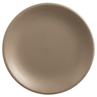 World Tableware DRI-2-S Driftstone 9 inch Sand Satin Matte Porcelain Coupe Plate - 12/Case