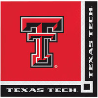 Creative Converting 654891 Texas Tech University 2-Ply Beverage Napkin - 240/Case