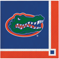 Creative Converting 659698 University of Florida 2-Ply Beverage Napkin - 240/Case
