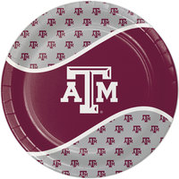 Creative Converting 424848 9 inch Texas A&M University Paper Plate - 96/Case