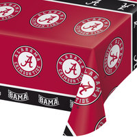 Creative Converting 720697 54 inch x 108 inch University of Alabama Plastic Table Cover - 12/Case