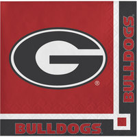 Creative Converting 336376 University of Georgia 2-Ply Beverage Napkin - 240/Case