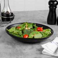 World Tableware DRI-4-O Driftstone 38 oz. Onyx Satin Matte Porcelain Coupe Bowl - 12/Case