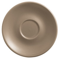 World Tableware DRI-14-S Driftstone 6 inch Sand Satin Matte Porcelain Saucer - 24/Case