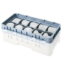 Cambro 8HE2151 Soft Gray 8 Compartment Half Size Half Drop Camrack Extender