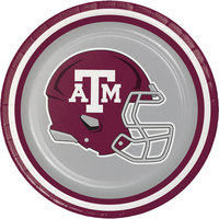 Creative Converting 410848 7 inch Texas A&M University Paper Plate - 96/Case