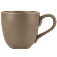 World Tableware DRI-13-S Driftstone 12 oz. Sand Satin Matte Porcelain Mug - 12/Case