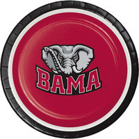 Creative Converting 410697 7 inch University of Alabama Paper Plate - 96/Case