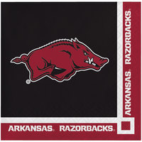 Creative Converting 659855 University of Arkansas 2-Ply Beverage Napkin - 240/Case