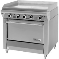 Garland M47R Master Series Natural Gas 34 inch Griddle with Standard Oven - 139,000 BTU (Manual Controls)