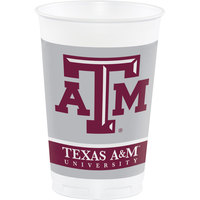Creative Converting 014848 20 oz. Texas A&M University Plastic Cup - 96/Case