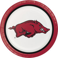 Creative Converting 420855 9 inch University of Arkansas Paper Plate - 96/Case