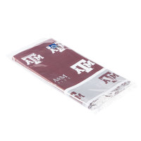 Creative Converting 724848 54 inch x 108 inch Texas A&M University Plastic Table Cover - 12/Case