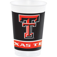 Creative Converting 374891 20 oz. Texas Tech University Plastic Cup - 96/Case