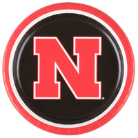 Creative Converting 429853 9 inch University of Nebraska Paper Plate - 96/Case