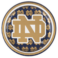Creative Converting 414842 7 inch Notre Dame Paper Plate - 96/Case