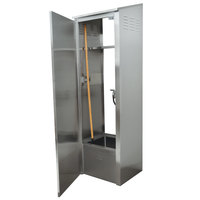 Advance Tabco 9-OPC-84-300 Stainless Steel Mop Sink Cabinet - 25 inch x 22 5/8 inch x 84 inch