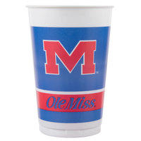 Creative Converting 374893 20 oz. University of Mississippi Plastic Cup - 96/Case
