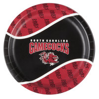 Creative Converting 424890 9 inch University of South Carolina Paper Plate - 96/Case