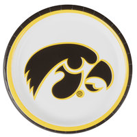 Creative Converting 429900 9 inch University of Iowa Paper Plate - 96/Case