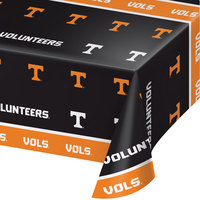 Creative Converting 329147 54 inch x 108 inch University of Tennessee Plastic Table Cover - 12/Case