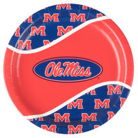 Creative Converting 424893 9 inch University of Mississippi Paper Plate - 96/Case