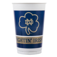 Creative Converting 014842 20 oz. Notre Dame Plastic Cup - 96/Case