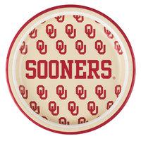 Creative Converting 414844 7 inch University of Oklahoma Paper Plate - 96/Case