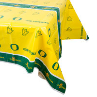 Creative Converting 724907 54 inch x 108 inch University of Oregon Plastic Table Cover - 12/Case