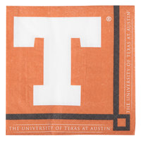 Creative Converting 654847 University of Texas 2-Ply Beverage Napkin - 240/Case