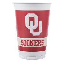 Creative Converting 014844 20 oz. University of Oklahoma Plastic Cup - 96/Case