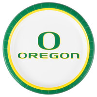 Creative Converting 429907 9 inch University of Oregon Paper Plate - 96/Case