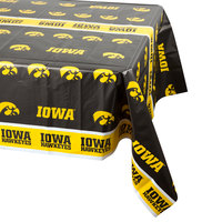 Creative Converting 729900 54 inch x 108 inch University of Iowa Plastic Table Cover - 12/Case