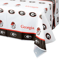 Creative Converting 724699 54 inch x 108 inch University of Georgia Plastic Table Cover - 12/Case