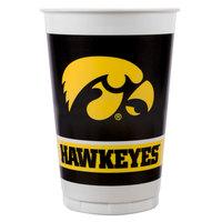 Creative Converting 374700 20 oz. University of Iowa Plastic Cup - 96/Case