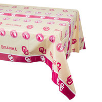 Creative Converting 724844 54 inch x 108 inch University of Oklahoma Plastic Table Cover - 12/Case