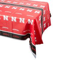 Creative Converting 729853 54 inch x 108 inch University of Nebraska Plastic Table Cover - 12/Case