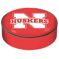 Holland Bar Stool BSCNebrUn 14 1/2 inch University of Nebraska Vinyl Bar Stool Seat Cover
