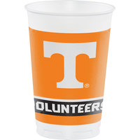 Creative Converting 329145 20 oz. University of Tennessee Plastic Cup - 96/Case