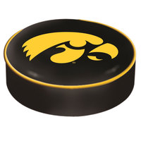 Holland Bar Stool BSCIowaUn 14 1/2 inch University of Iowa Vinyl Bar Stool Seat Cover