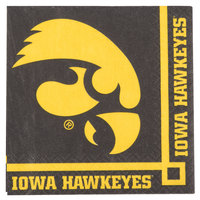 Creative Converting 659900 University of Iowa 2-Ply Beverage Napkin - 240/Case