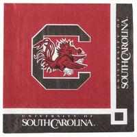 Creative Converting 654890 University of South Carolina 2-Ply Beverage Napkin - 240/Case