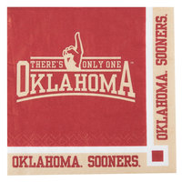 Creative Converting 654844 University of Oklahoma 2-Ply Beverage Napkin - 240/Case