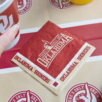 Creative Converting 654844 University of Oklahoma 2-Ply Beverage Napkin - 240/Case