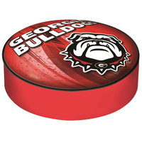 Holland Bar Stool BSCGA-Dog-D2 14 1/2 inch University of Georgia Vinyl Bar Stool Seat Cover